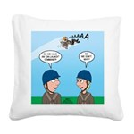On Launch Square Canvas Pillow
