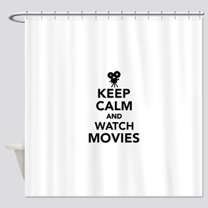Keep calm and Movies Shower Curtain