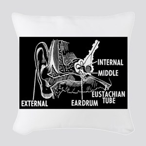 Ear Diagram Woven Throw Pillow