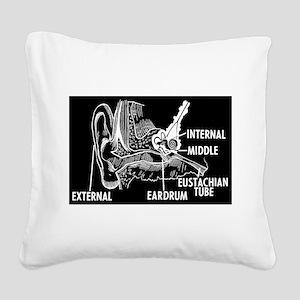 Ear Diagram Square Canvas Pillow