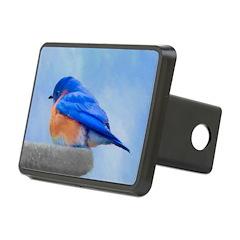 Bluebird on Birdbath Hitch Cover