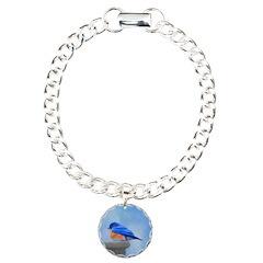 Bluebird on Birdbath Bracelet