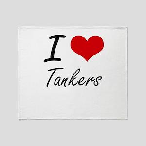 I love Tankers Throw Blanket