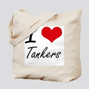 I love Tankers Tote Bag