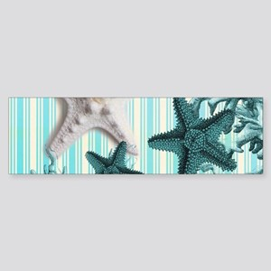 romantic seashells shabby chic Bumper Sticker
