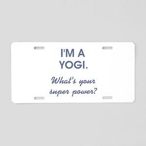 I'M A YOGI... Aluminum License Plate