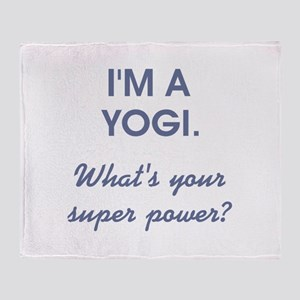 I'M A YOGI... Throw Blanket