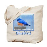 Bluebird on Birdbath Tote Bag
