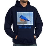 Bluebird on Birdbath Hoodie (dark)