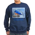 Bluebird on Birdbath Sweatshirt (dark)