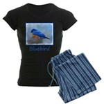 Bluebird on Birdbath Women's Dark Pajamas