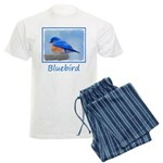 Bluebird on Birdbath Men's Light Pajamas