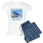 Bluebird on Birdbath Women's Light Pajamas