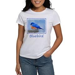 Bluebird on Birdbath Women's Classic White T-Shirt