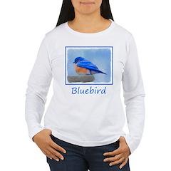 Bluebird on Birdbath T-Shirt