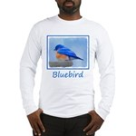 Bluebird on Birdbath Long Sleeve T-Shirt