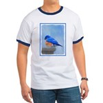 Bluebird on Birdbath Ringer T
