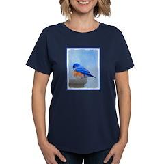 Bluebird on Birdbath Women's Dark T-Shirt