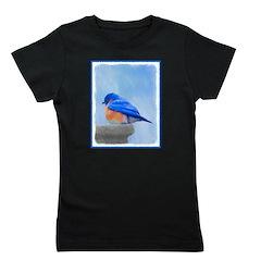 Bluebird on Birdbath Girl's Tee