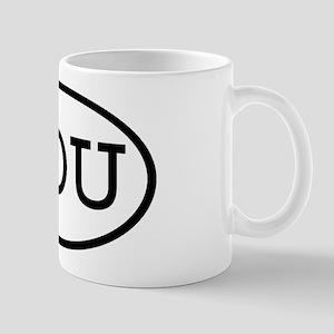 IOU Oval Mug
