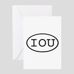 IOU Oval Greeting Card