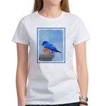 Bluebird on Birdbath Women's Classic White T-Shirt