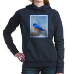 Bluebird on Birdbath Women's Hooded Sweatshirt