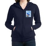 Bluebird on Birdbath Women's Zip Hoodie