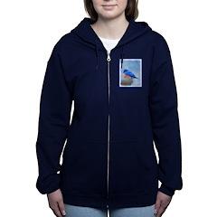 Bluebird on Birdbath Women's Zip Hoodie