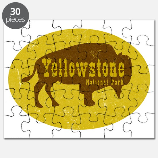 Yellowstone Bison Decal Puzzle