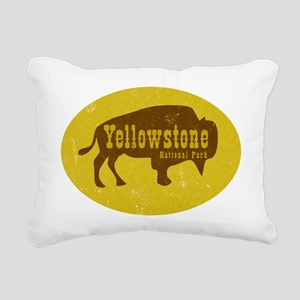 Yellowstone Bison Decal Rectangular Canvas Pillow