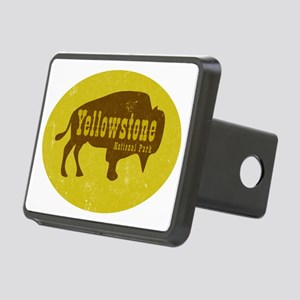 Yellowstone Bison Decal Rectangular Hitch Cover