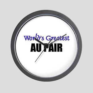 Worlds Greatest AU PAIR Wall Clock