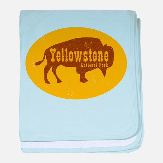 Yellowstone Bison Decal baby blanket