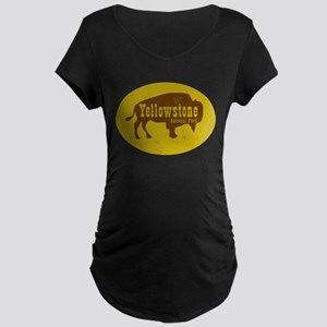 Yellowstone Bison Decal Maternity T-Shirt