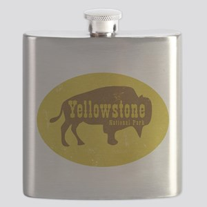 Yellowstone Bison Decal Flask