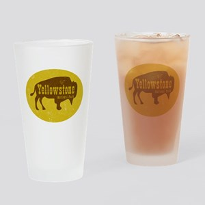 Yellowstone Bison Decal Drinking Glass