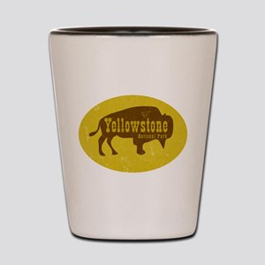 Yellowstone Bison Decal Shot Glass