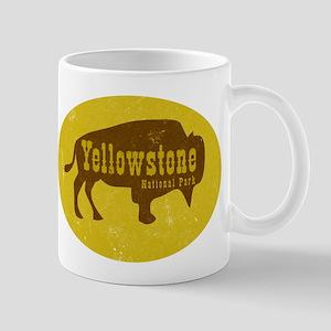 Yellowstone Bison Decal Mugs