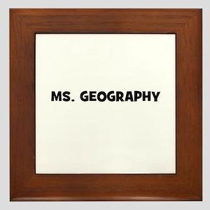 Ms. Geography Framed Tile