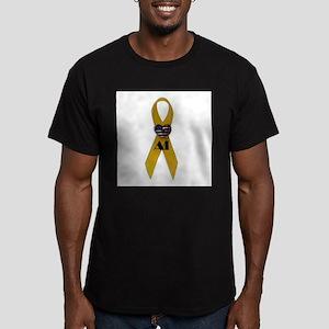 YellowRibbon_heart_Al Men's Fitted T-Shirt (da
