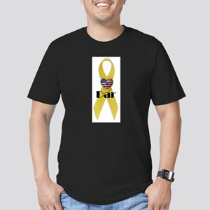 Dar (Yellow Ribbon) Men's Fitted T-Shirt (dark)