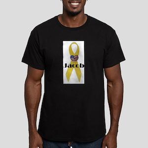 Jacob (Yellow Ribbon) Men's Fitted T-Shirt (dark)