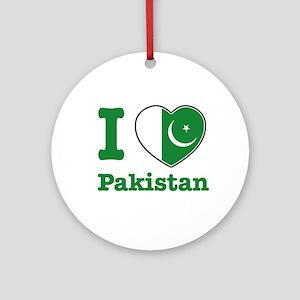 I love Pakistan Ornament (Round)