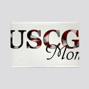Mom USCG_flag  Rectangle Magnet