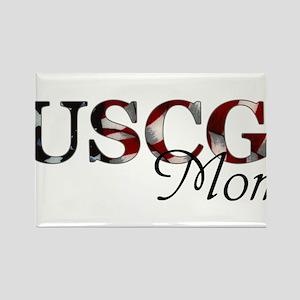 Mom USCG_flag  Rectangle Magnet