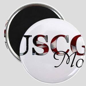 Mom USCG_flag  Magnet