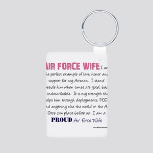I am..r Force Wife Aluminum Photo Keychain