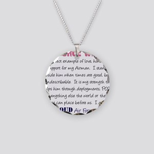 I am..r Force Wife Necklace Circle Charm