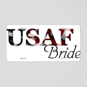 USAF Bride (Flag) Aluminum License Plate